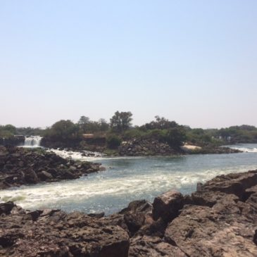 De Zambezi en de Victoria watervallen