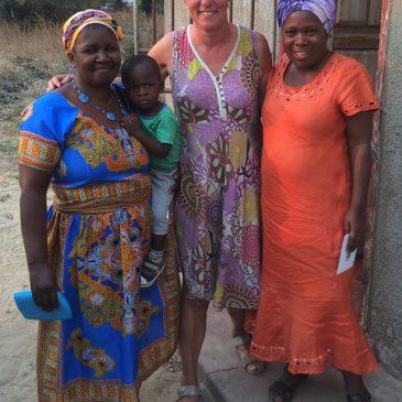 Bezoek aan het project 'Agape-Orphans-Home Based Care' in Zambezi