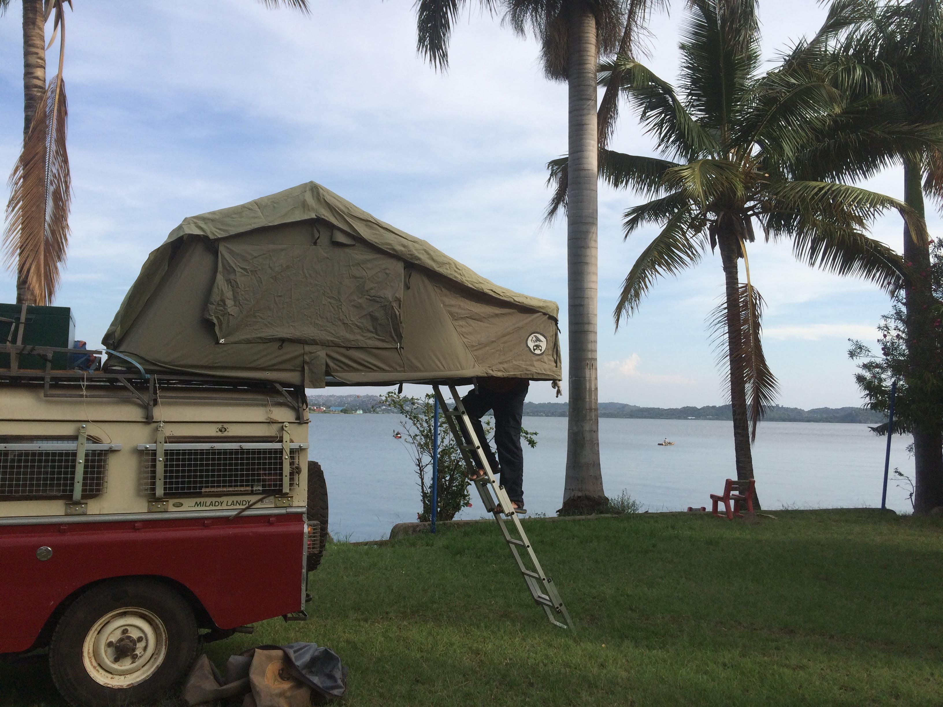 camping at lake Victoria, Mwanza, Tanzania
