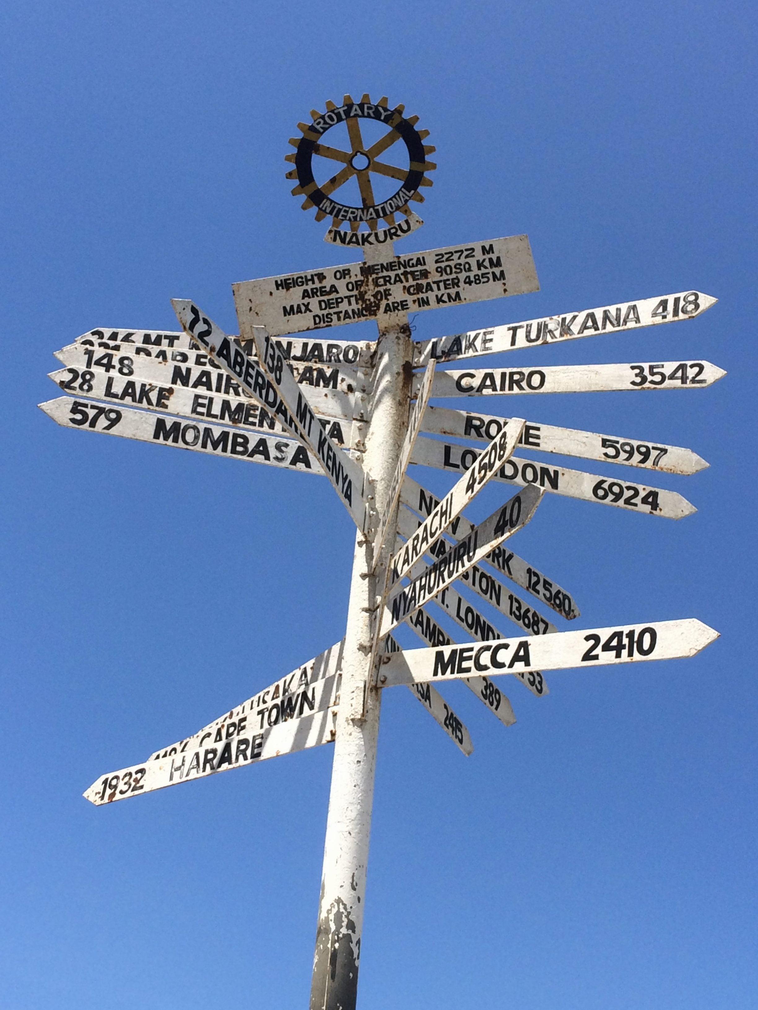 road sign Kenya