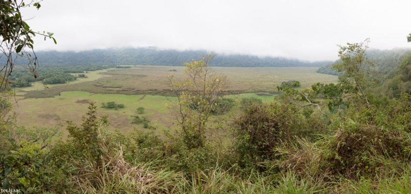Gurdoto crater panoramic view, Arusha National Park, Tanzania