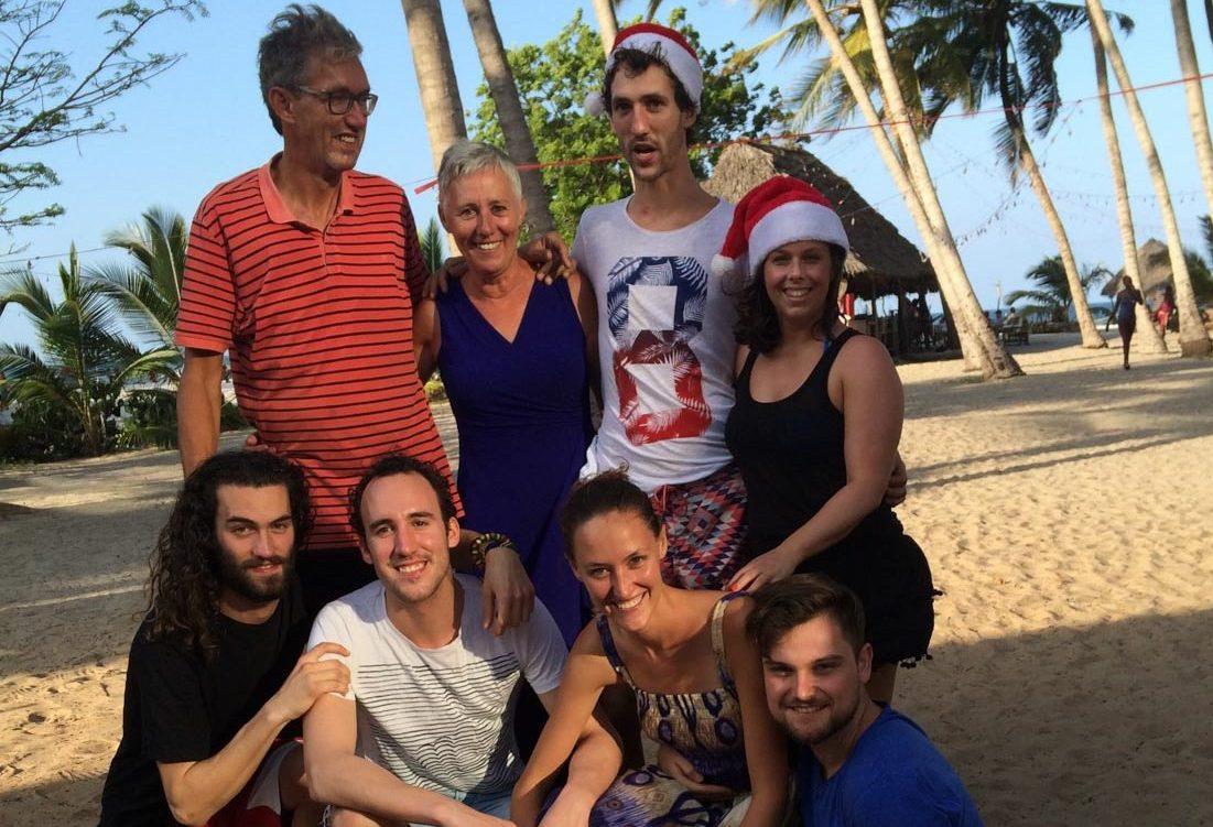 happy family, Christmas at Mahaba beach, Dar es Salam, Tanzania