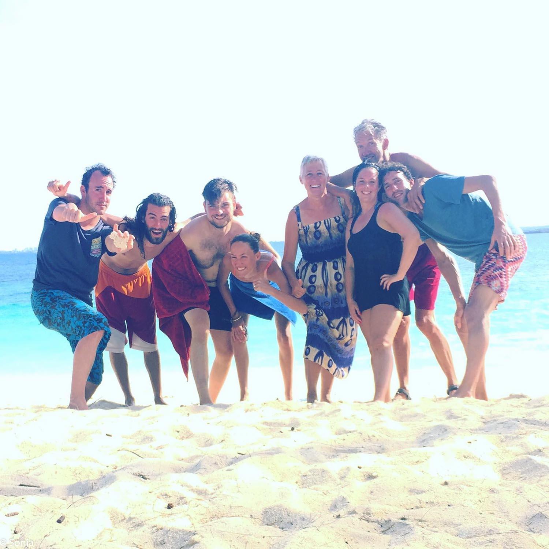 crazy family, Christmas at Mahaba beach, Dar es Salam, Tanzania