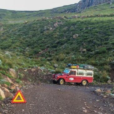 """De """"kortste"""" weg door Lesotho"""